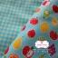ผ้าคอตตอนลินิน 1/4ม.(50x55ซม.) พื้นสีฟ้า ลายผลไม้ thumbnail 2