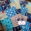 ผ้าคอตตอนลินิน 100% 1/4 เมตร โทนสีฟ้า ลายสมอเรือ thumbnail 2