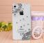 เคสไอโฟน 4/4s (Case iphone 4/4s) เคสไอโฟนกรอบโปร่งใสประดับเพชรเรียบหรูมุมขอบ thumbnail 1