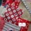 ผ้าคอตตอนลินิน 1/4ม.(50x55ซม.) ลายสมอเรือ โทนสีแดง thumbnail 1