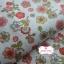 ผ้าคอตตอนไทย 100% 1/4 ม.(50x55ซม.) พื้นสีขาว ลายดอกไม้ thumbnail 1