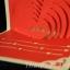A14 การ์ดป๊อปอัพไดคัทหัวใจแดงครีมมุก thumbnail 2