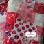 ผ้าคอตตอนลินิน 1/4ม.(50x55ซม.) ลายสมอเรือ โทนสีแดง thumbnail 2