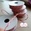 เชือกสีชมพูเข้มสลับสีขาว 1ม้วน (ยาว 2 หลา) thumbnail 1