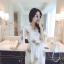 เดรสแฟชั่น สวยใสสมวัยสาว สกรีนดอกไม้สวยๆ ตัดกับสีพื้นจริงๆ thumbnail 3