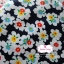 ผ้าคอตตอนไทย 100% 1/4 ม.(50x55ซม.) พื้นสีน้ำเงิน ลายดอกไม้สีขาว thumbnail 2