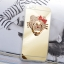 Case iphone 6 Plus / 6s Plus (TPU Case ) สีทองประดับห่วงคิตตี้ฝังเพชร thumbnail 1