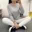 เสื้อแขนยาวแฟชั่นเกาหลี แต่งแขนลายนูนแบบลูกคลื่น สวยเก๋ นุ่มสบาย thumbnail 12