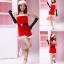 xm009 ชุดแซนตี้ ชุดซานต้าสาว แซกเกาะอก พร้อมหมวกและเข็มขัดคะ thumbnail 2