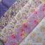 Set 5 ชิ้น : ผ้าคอตตอน 100% โทนสีม่วง 5 ลาย ชิ้นละ1/8 ม.(50x27.5ซม.) thumbnail 1
