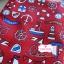 ผ้าคอตตอนลินิน 1/4ม.(50x55ซม.) พื้นสีแดง ลายสมอเรือ thumbnail 3