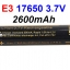 e3 Li-ion 17650 2600mAh 3.7V Protected Battery by Soshine thumbnail 1