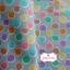 ผ้าคอตตอนไทย 100% 1/4 ม.(50x55ซม.) พื้นสีเทา ลายจุดหลากสี thumbnail 3