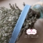 ริบบิ้นผ้าแถบ สีฟ้า แต่งเส้นสีขาว กว้าง 1 ซ.ม. แบ่งขายเป็นหลา thumbnail 1