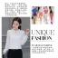 เสื้อชีฟองใหม่ สไตล์สาวเกาหลี ปกสูงแต่งด้วยลูกไม้ กับสีพื้นยอดนิยม ขาว - ดำ - แดง thumbnail 3
