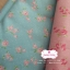 ผ้าคอตตอนไทย 100% 1/4 ม.(50x55ซม.) พื้นสีฟ้า ลายดอกไม้เล็กสีชมพู thumbnail 2