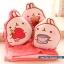 หมอนผ้าห่ม ลายกระต่าย Molang ถือสตรอเบอร์รี่ สีชมพู ## พร้อมส่งค่ะ ## thumbnail 7