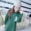 เดรสสั้นเกาหลี สำหรับสาวๆ ใส่ต้อนรับหน้าหนาว เน้อผ้าหนานุ่ม แขนยาว ปกป้องผิวจากลมหนาว thumbnail 13