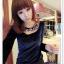 เสื้อแฟชั่นเกาหลีใหม่ ผ้ากำมะหยี่สีมันวาว ตกแต่งคอเสื้อด้วยเพชรสีสันสวยงาม thumbnail 16