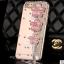 เคสไอโฟน 7 กรอบใส ประดับมุกและพู่ห้อยดอกไม้ชมพู thumbnail 1