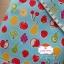 ผ้าคอตตอนลินิน 1/4ม.(50x55ซม.) พื้นสีฟ้า ลายผลไม้ thumbnail 1