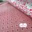 ผ้าคอตตอนไทย 100% 1/4 ม.(50x55ซม.) โทนสีแดงขาว thumbnail 2