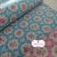 ผ้าคอตตอนลินินญี่ปุ่น 100% 1/4 ม.(50x55ซม.) พื้นสีฟ้า ลายดอกไม้ thumbnail 4