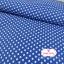ผ้าคอตตอนไทย 100% 1/4 ม.(50x55ซม.) พื้นสีน้ำเงิน ลายจุดสีขาว thumbnail 4