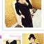 เสื้อแฟชั่นเกาหลีแขนยาวสไตล์ย้อนยุค ตกแต่งคอเสื้อและชายเสื้อด้วยด้ายสีทอง thumbnail 7