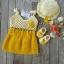 เซ็ทชุดซัมเมอร์ สีเหลือง ขนาด3-6 เดือน*ส่งฟรีEMS thumbnail 1