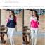 เสื้อยืดแขนยาวแฟชั่น สีสันจี๊ดๆ ตัดกันอย่างโดดเด่น ผ้านิ่ม น่าใส่มากๆ thumbnail 2