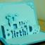 A53 การ์ดป๊อปอัพไดคัท Happy Birthday 2 สีฟ้า thumbnail 3