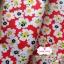 ผ้าคอตตอนไทย 100% 1/4 ม.(50x55ซม.) พื้นสีแดง ลายดอกไม้สีขาว thumbnail 2