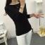 เสื้อแขนยาวแฟชั่นเกาหลี แต่งแขนลายนูนแบบลูกคลื่น สวยเก๋ นุ่มสบาย thumbnail 20