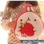 หมอนผ้าห่ม ลายกระต่าย Molang ถือสตรอเบอร์รี่ สีชมพู ## พร้อมส่งค่ะ ## thumbnail 1