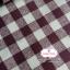 ผ้าคอตตอนลินิน 1/4ม.(50x55ซม.) ลายตารางสีน้ำตาลเข้ม thumbnail 1