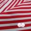 ผ้าคอตตอนไทย 100% 1/4 ม.(50x55ซม.) พื้นสีแดง ลายทาง thumbnail 2