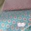 ผ้าคอตตอนลินินญี่ปุ่น 100% 1/4 ม.(50x55ซม.) พื้นสีชมพู ลายดอกไม้ thumbnail 3