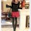 เสื้อแฟชั่นเกาหลีใหม่ ผ้ากำมะหยี่สีมันวาว ตกแต่งคอเสื้อด้วยเพชรสีสันสวยงาม thumbnail 10