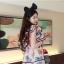 เดรสสั้นสีชมพูหวานๆ ลวดลายน่ารักๆ ขนาดกำลังดี แต่งคอเสื้อนิดๆ น่าใส่สุดๆ thumbnail 9