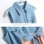 Tokyo pop splicing denim hundred เดรสสั้นมีปกผ้าชิฟฟ่อน เก๋ด้วยชายเสื้อผูกโบว์คาดเอว thumbnail 15