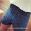 กางเกงแฟชั่นมาใหม่ ออกแบบด้านหน้าเหมือนกระโปรงยีนส์สั้น แต่เป็นกางเกง ง่ายทุกการเคลื่อนไหว หมดห่วงเรื่องนั่งยาก thumbnail 9