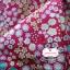 ผ้าคอตตอนไทย 100% 1/4ม.(50x55ซม.) พื้นสีชมพูเข้ม ลายสวนดอกไม้ thumbnail 1