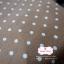 ผ้าคอตตอนลินิน 1/4ม.(50x55ซม.) พื้นสีน้ำตาล ลายจุด thumbnail 1
