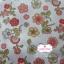 ผ้าคอตตอนไทย 100% 1/4 ม.(50x55ซม.) พื้นสีขาว ลายดอกไม้ thumbnail 2