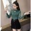 เสื้อยืดแขนยาวแฟชั่น สีสวยๆ สะท้อนแสงส่องประกายเล็กๆ ผ้านิ่ม ใส่สบายผิว thumbnail 16