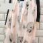 ผ้าพันคอชีฟอง ลายหัวกระโหลกสีชมพู ( รหัส P19 ) thumbnail 1