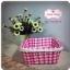 ตะกร้าผ้า ลายตารางสีชมพู-ขาว thumbnail 2