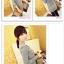 เสื้อแฟชั่นเกาหลีแขนยาวสไตล์ย้อนยุค ตกแต่งคอเสื้อและชายเสื้อด้วยด้ายสีทอง thumbnail 4