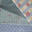 Set 4 ชิ้น : ผ้าคอตตอน100% โทนสีฟ้า 3 ลายและผ้าแคนวาส ลายจุด แต่ละชิ้นขนาด1/8 ม.(50x27.5ซม.) thumbnail 1